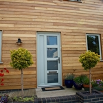 Artisan Timber Alternative Pebble Grey Windows and Doors, Ruthin , Denbighshire, Wales