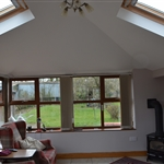 Internal Shot of a Garden Room in Llandegla , Nr Wrexham, North Wales.